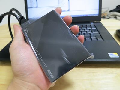 ポータブル外付けハードディスク 1.0TB HDPE-UT1.0